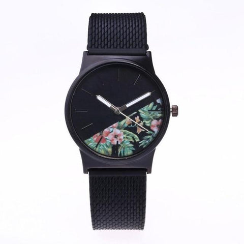 Image of Quartz Wristwatches  Reloj Mujer    Simple   Round Women Watch   Silicone  Analog Alloy   Watches  Relogio Feminino 18JAN4