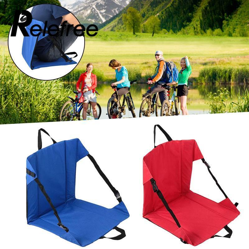 Relefree Clip-On Portable Folding Chairs Camping Picnic Outdoor Hiking Seat Tool