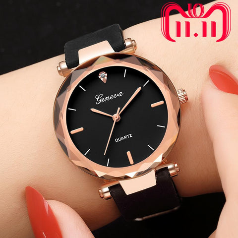 Image of Relojes Mujer Fashion Ladies Wrist Watches Womens Clock Round Glass Silicone Strap Wrist Watch For Women Ladies Wrist Watches