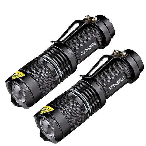 RockBirds LED Flashlights, Bright 3 Modes Small Aluminum Flashlight