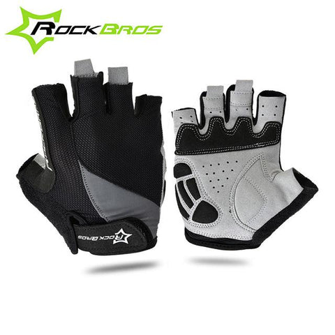 Image of ROCKBROS Cycling Anti-slip Anti-sweat Men Women Half Finger Gloves Breathable Anti-shock Sports Gloves MTB Bike Gloves