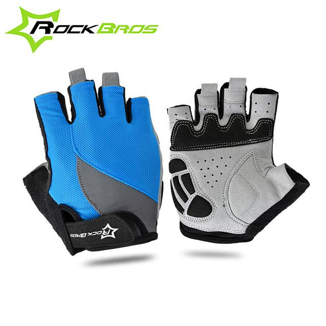 ROCKBROS Cycling Anti-slip Anti-sweat Men Women Half Finger Gloves Breathable Anti-shock Sports Gloves MTB Bike Gloves
