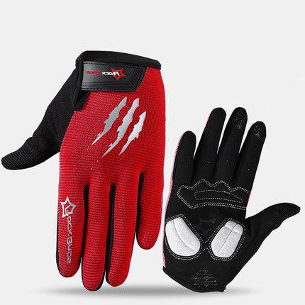 ROCKBROS Cycling Gloves Sponge Pad Long Finger Motorcycle Gloves For Bicycle Mountain Bike Touch Screen MTB Gloves