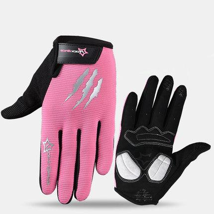 Image of ROCKBROS Cycling Gloves Sponge Pad Long Finger Motorcycle Gloves For Bicycle Mountain Bike Touch Screen MTB Gloves