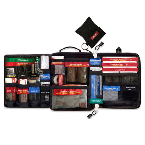 Image of Safe  Wilderness Survival Car Travel First Aid Kit Medical Bag Outdoors First-Aid Kit Camping Emergency Kit Treatment Pack Set