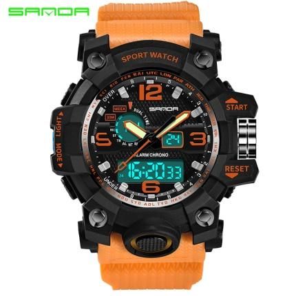 Image of SANDA Military Watch Waterproof Sports Watches Men's LED Digital Watch Top Brand Luxury Clock Camping Diving Relogio Masculino