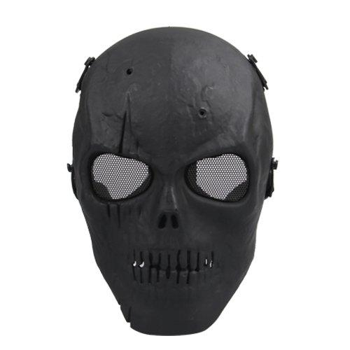 SDFC Airsoft Mask Skull Full Protective Mask Military - Black