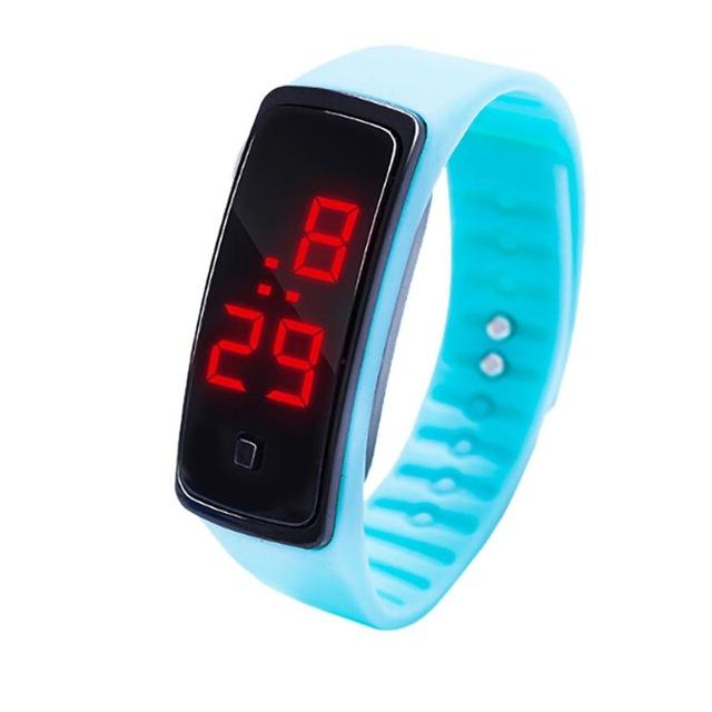Silicone Led Sports Women's Watches Children Electronic LED Digital Watch Man Ladies Running Sport Men's Watch Clock