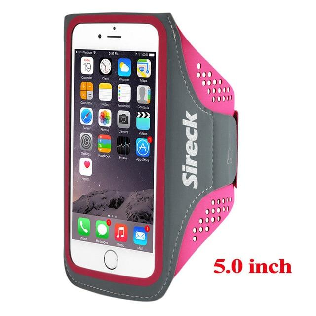 "Sireck Running Bags Men Women 5.0"" 5.8"" Touch Screen Cell Phone Arms Package Sports Equipment Jogging Run Bag Accessories"