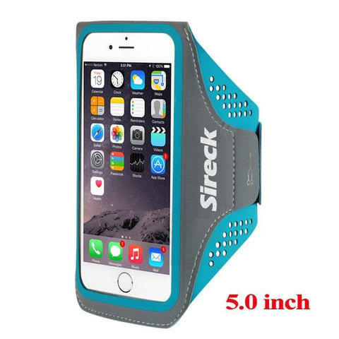 "Image of Sireck Running Bags Men Women 5.0"" 5.8"" Touch Screen Cell Phone Arms Package Sports Equipment Jogging Run Bag Accessories"