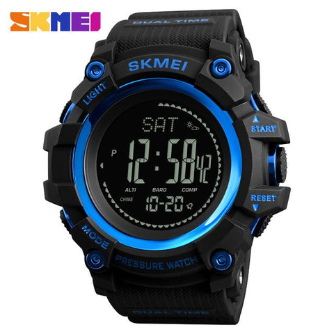 Image of SKMEI Brand Mens Sports Watches Hours Pedometer Calories Digital Watch Altimeter Barometer Compass Thermometer Weather Men Watch