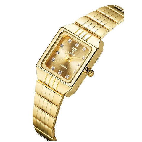Image of SKMEI Golden Quartz Watch Men Women Watches Relogio Masculino Top Luxury Gold Bracelet Wrist Watches Steel Female Male Clock