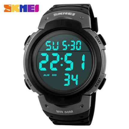 Image of Skmei Luxury Brand Mens Sports Watches Dive 50m Digital LED Military Watch Men Fashion Casual Electronics Wristwatches Hot Clock