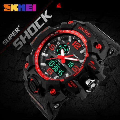 Image of SKMEI New S Shock Men Sports Watches Big Dial Quartz Digital Watch For Men Luxury Brand LED Military Waterproof Men Wristwatches