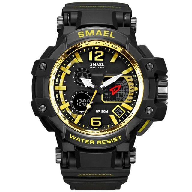 SMAEL Men Watches White Sport Watch LED Digital 50M Waterproof Casual Watch S Shock Male Clock 1509 Relogios Masculino Watch Man