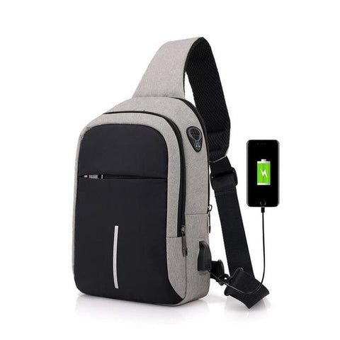 Small Usb Charge One Shoulder Bag Men Messenger Bags Male Waterproof Sling Chest Bag Bagpack Cross Body Bags