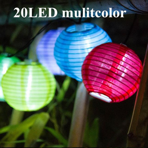 Image of Solar String Lights Lantern Ball 10/20 LED Solar Outdoor Lighting Fairy Lights Christmas Decorative Light For Party Holiday