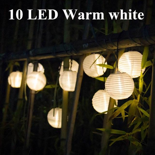 Solar String Lights Lantern Ball 10/20 LED Solar Outdoor Lighting Fairy Lights Christmas Decorative Light For Party Holiday