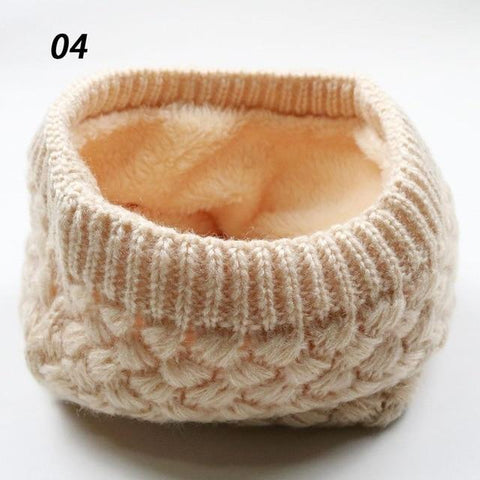Image of Sparsil Unisex Winter Warm Knitted Ring Scarves Thick Fleece Inside Super Elastic Knit Mufflers Men Women Children Neck Warmers