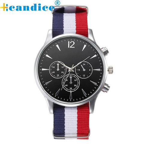 Image of Splendid 2017 Hot Sale Male Wristwatches Luxury Fashion Bracelet Canvas Mens Analog Watch High Quality