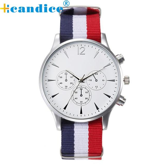 Splendid 2017 Hot Sale Male Wristwatches Luxury Fashion Bracelet Canvas Mens Analog Watch High Quality