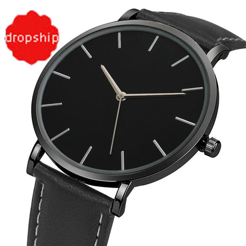 Image of Splendid Quartz Watch Men Women Famous Brand Gold Leather Band Wrist Watches Luxury