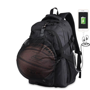 Sport Men Basketball Basketball Backpack School Bag For Teenager Boys Soccer Ball Pack Laptop Bag Football Net Gym Bags Male