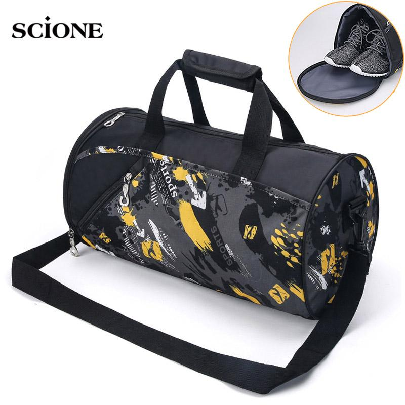 Sports Gym Bag Fitness For Women Men Bags Yoga Nylon Travel Training Ultralight Duffle  Bag Shoes Small