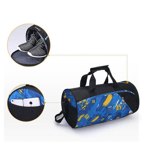 Image of Sports Gym Bag Fitness For Women Men Bags Yoga Nylon Travel Training Ultralight Duffle  Bag Shoes Small