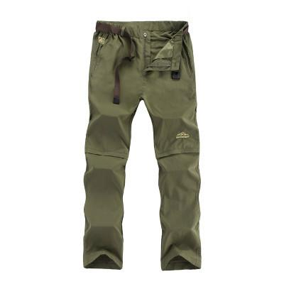 Image of Summer Outdoor Sports Quick Dry Pants Men Camping Fishing Trekking Hiking Pants For Men Removable Thin Breathable Trousers