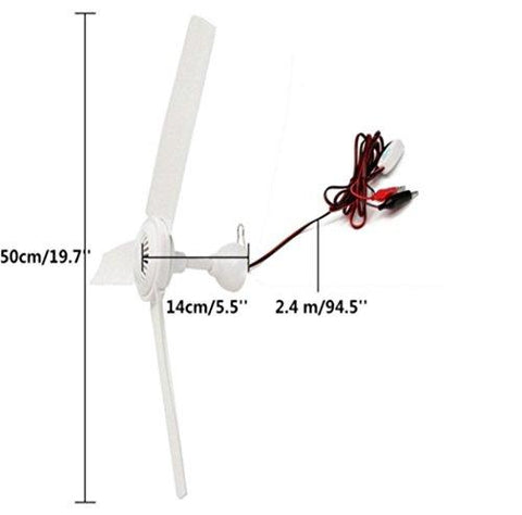 "Image of Sunlar 12V DC 19.7"" Inch Ceiling Fan With Switch Outdoor Camping Suit For 12V Battery Power"