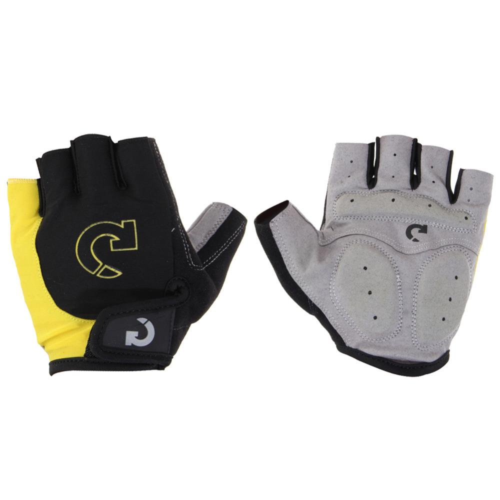 Super Unisex Cycling Gloves Men Sports Half Finger Anti Slip Gel Pad Motorcycle MTB Road Bike Gloves S-XL Bicycle Gloves Yellow