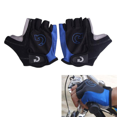 Image of Super Unisex Cycling Gloves Men Sports Half Finger Anti Slip Gel Pad Motorcycle MTB Road Bike Gloves S-XL Bicycle Gloves Yellow