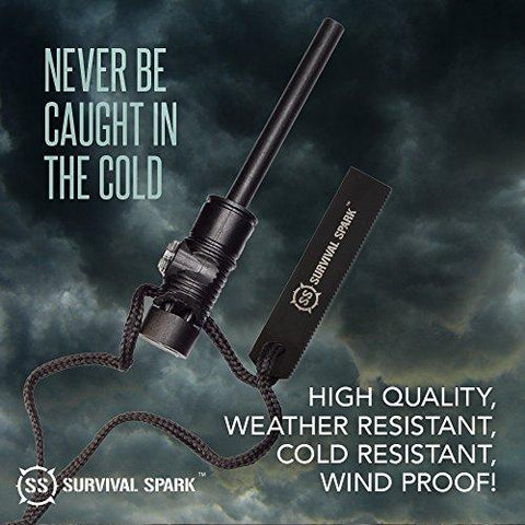 Image of Survival Spark Magnesium Survival Fire Starter With Compass And Whistle