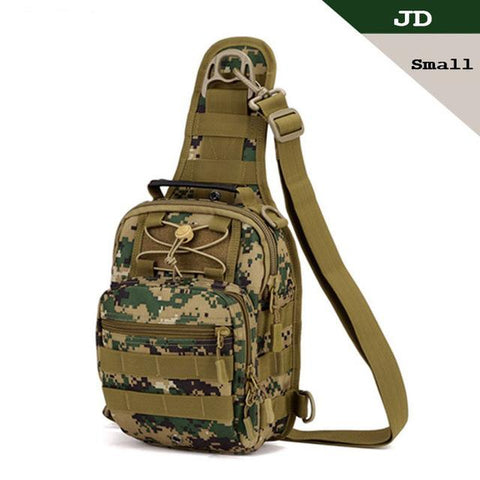 Image of Tactical Bag Molle Fishing Hiking Hunting Bags Sports Bag Chest Body Sling Single Shoulder Tactical Backpack