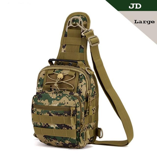 Tactical Bag Molle Fishing Hiking Hunting Bags Sports Bag Chest Body Sling Single Shoulder Tactical Backpack