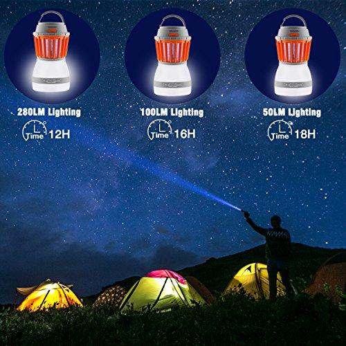 Texsens Bug Zapper & Camping Lantern-IP67 Rainproof 2-in-1 Zapper Lantern Charge Via USB Lightweight Camping Gear & Accessories For The Outdoors & Emergencies
