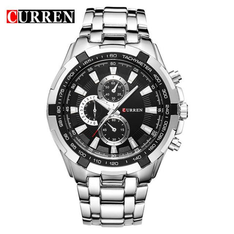 Image of Top Brand Luxury Full Steel Watch Men Business Casual Quartz Wrist Watches Military Wristwatch Waterproof