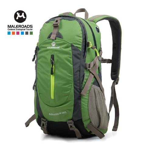 Top Quality Maleroads Hiking Backpack Travel Daypack Outdoor Sport Waterproof Backpack Camp Pack Trekk Rucksack Men Women 40L