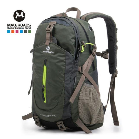 Image of Top Quality Maleroads Hiking Backpack Travel Daypack Outdoor Sport Waterproof Backpack Camp Pack Trekk Rucksack Men Women 40L