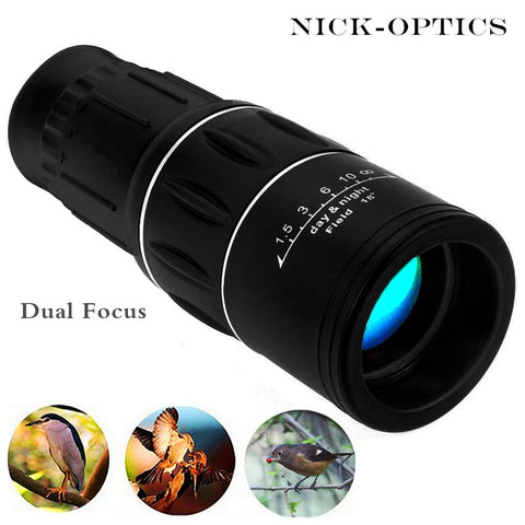 Travel 16x52 Monocular HD Telescope Dual Focus Zoom Powerful Monocular