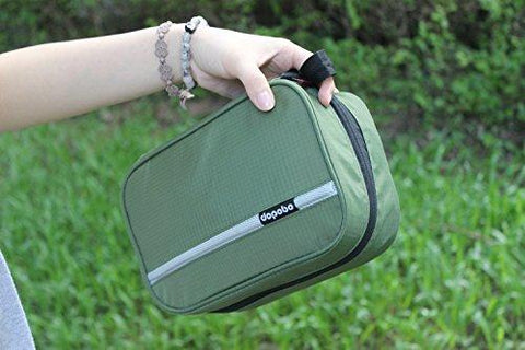 Image of Travel Toiletry Bag Portable Hanging Water-Resistant Wash Bag For Travelling, Business Trip, Camping (army Green)