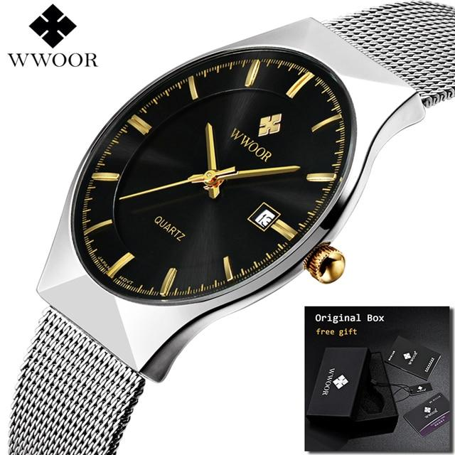 Ultra Thin Fashion Male Wristwatch Top Brand Luxury Business Watches Waterproof Scratch-resistant Men Watch Clock