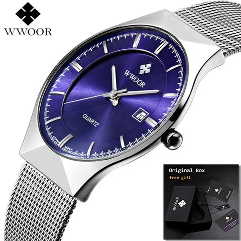 Image of Ultra Thin Fashion Male Wristwatch Top Brand Luxury Business Watches Waterproof Scratch-resistant Men Watch Clock
