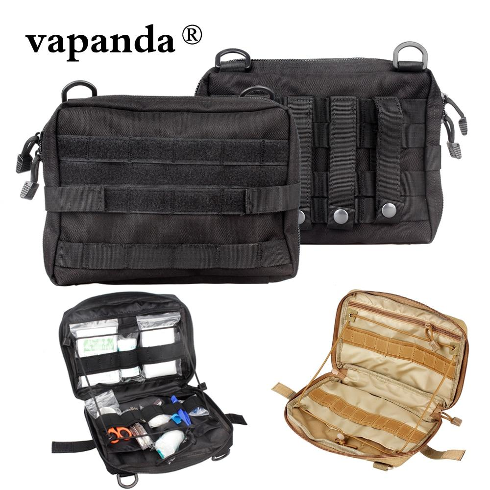 Vapanda Tactical Molle Pouch Nylon Black Tactical Pouch Large Magazine Organizer Utility Phone Medic Belt Bag EDC Molle Pouches