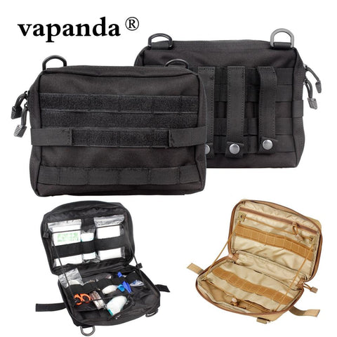Image of Vapanda Tactical Molle Pouch Nylon Black Tactical Pouch Large Magazine Organizer Utility Phone Medic Belt Bag EDC Molle Pouches