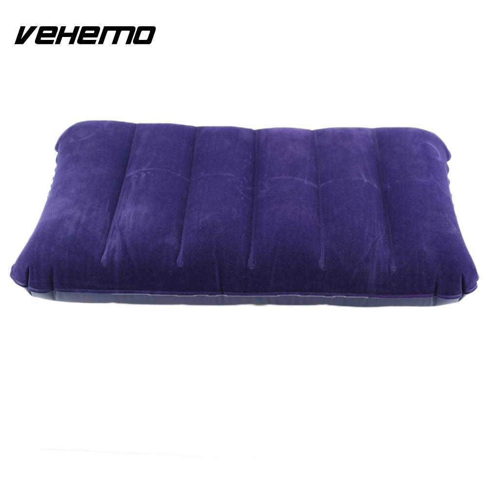 Vehemo Blue Air Cushion Car Travel Inflatable Pillow Bed Outdoor Camping Comfortable