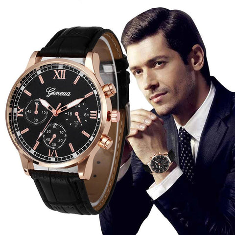 Image of VICO High Quality Retro Design Leather Band Analog Alloy Quartz Wrist Watch Mens Watches Top Brand Luxury Mens Watches Skmei
