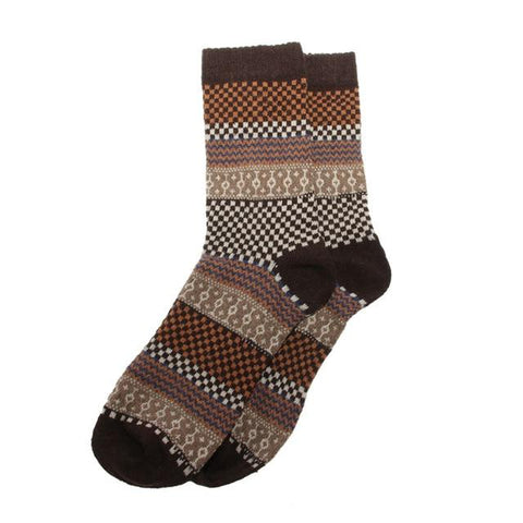 Image of Vintage Men Warm Winter Thick Wool Mixture Soft Cashmere Casual Dress Socks
