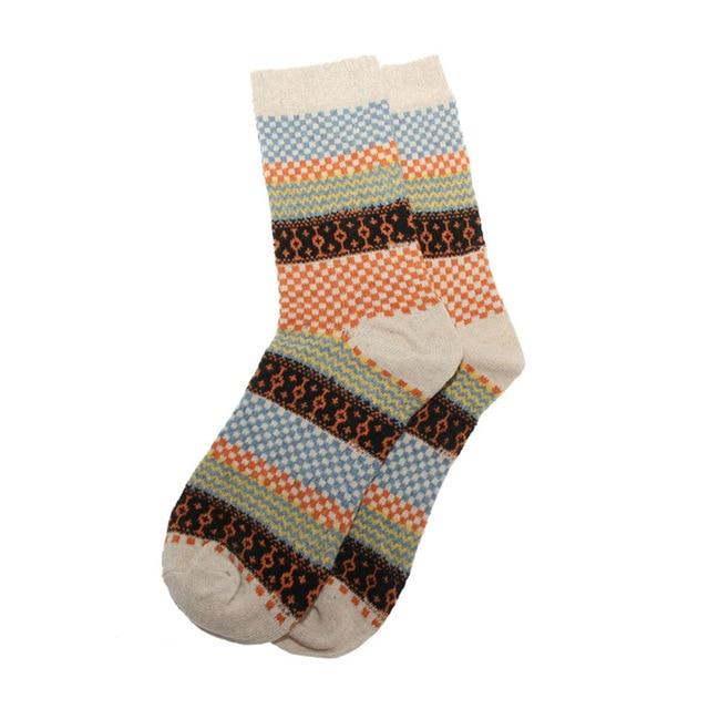 Vintage Men Warm Winter Thick Wool Mixture Soft Cashmere Casual Dress Socks